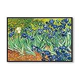 Elegante poesía Iris Flower de Vincent Van Gogh Artista famoso Art Print Poster Wall Pictures Canvas Oil Painting Home Wall Decor30x45cm