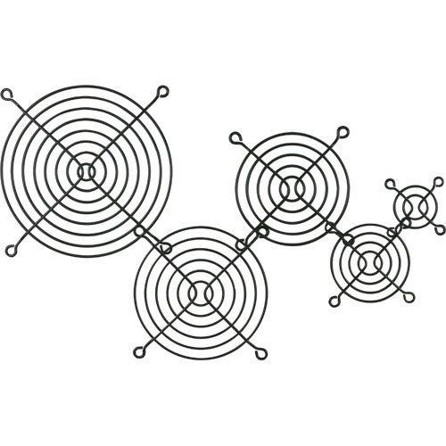 Lüftergitter Metall, schwarz, 140x140mm -3 Stück
