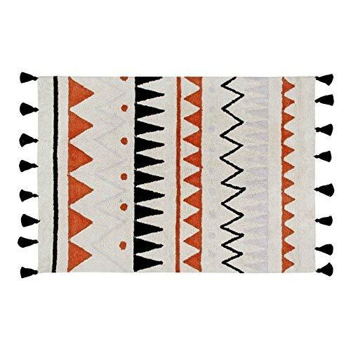 Lorena Canals Grande Naturel aztèque Lavable Tapis, Coton, Terre Cuite, 140 x 200 x 30 cm