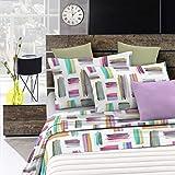 Italian Bed Linen Fantasy Completo Letto, Microfibra, Multicolore, A Una Piazza e Mezza
