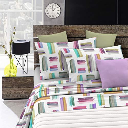 Italian Bed Linen Fantasy Completo Letto, Microfibra, Multicolore (Multicolore), Matrimoniale