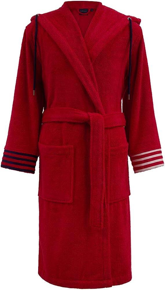 Ralph lauren home,elegante accappatoio da uomo ,100% cotone egiziano, spugna di qualità da 420 g/m² Travis-red-XXL