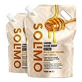 Amazon-Marke: Solimo Flüssige Handseife Nachfüllpackung- Milch- und...