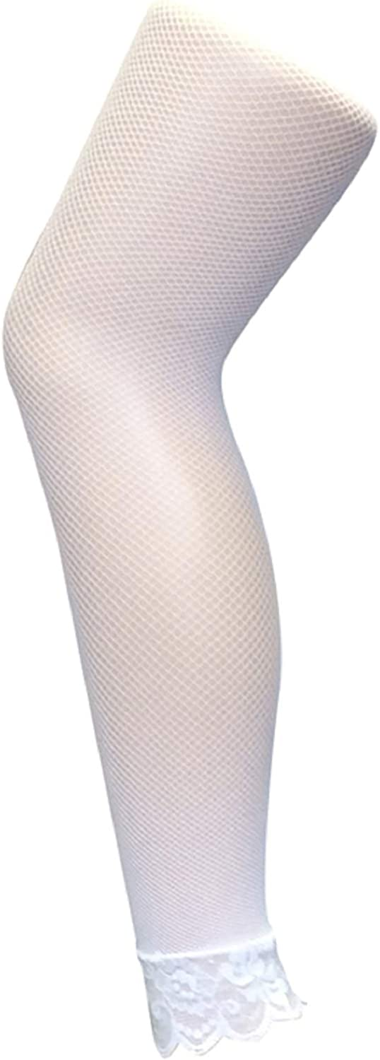 Sock Snob - Womens Colorful Neon Lace Bottom Footless Fishnet Tights 10 Colors