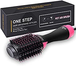 ikedon Hair Dryer Brush, Dry, Straighten & Curl One Step Hair Dryers with Negative Ion for Reducing Frizz and Static
