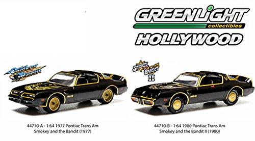 Smokey & The Bandit Set Trans-Am Hollywood Movie Series Pontiac Car Set - Part 1 & II Greenlight