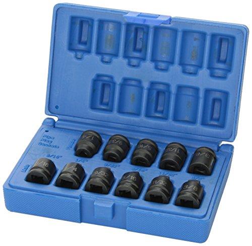 Grey Pneumatic (1211P 3/8' Drive 11-Piece Pipe Plug Socket Set