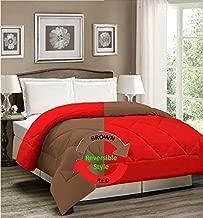 AVI Reversible Style Plain Brown & Red 200 GSM Microfiber Comforter/Duvet/Quilt -Single Size - 60 X 90 inches
