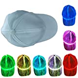 Yunobi Gorra luminosa LED que cambia de color gorra de béisbol gorra de fibra óptica Hip Hop Cap de Halloween accesorios de fiesta de Navidad