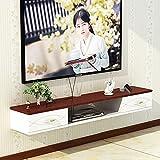 Mueble de TV Mesa Flotante,Soporte TV Flotante para Sala Estar, Decodificador TV MultifuncióN Montado en la Pared para Dormitorio Apartamento PequeñO/B / 150cm