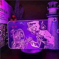 Tatapai 3DナイトライトイリュージョンLed装飾ランプライトUSBトイレバウンド花子くんやひろねねピンキープロミス3DアニメランプLed色変更ナイトライトLamparafor Xmas Gift