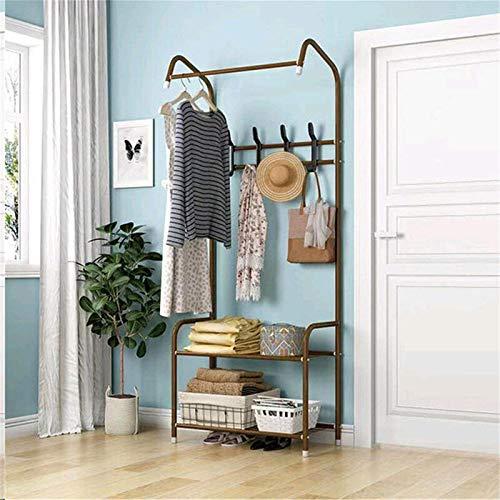 Chengzuoqing Perchero de pie para ropa de 110 x 60 x 35 cm, organizador de almacenamiento, dormitorio
