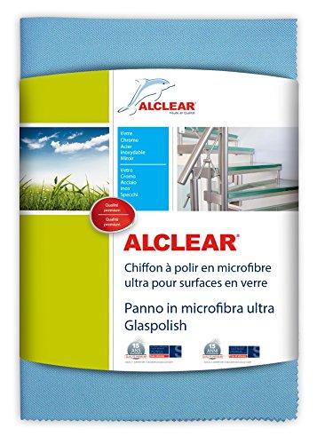 ALCLEAR 820051UM Chiffon à polir en Microfibre Ultra pour Les Surfaces en Verre Bleu Dimensions 70 x 50 cm