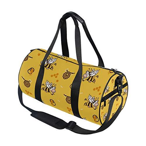 Jeansame Leuke Dier Gele Bijen Honing Koe Gym Tas Reizen Sport Duffel Tassen Tote Holdall Tas voor Vrouwen Mannen Kid Jongen Meisje