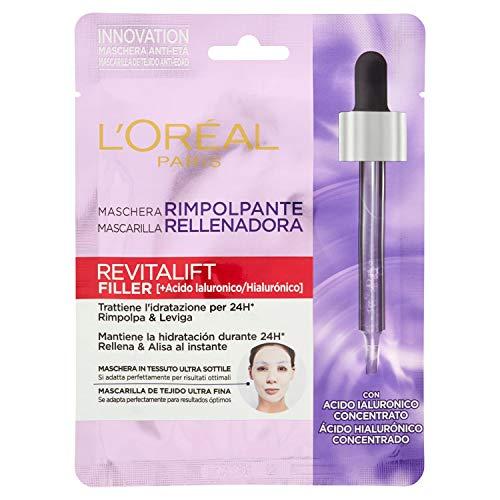 L'Oréal Paris Revitalift Filler Mascarilla Rellenadora, Cuidado Facial Anti-Edad, Con Ácido Hialurónico, 41 gr