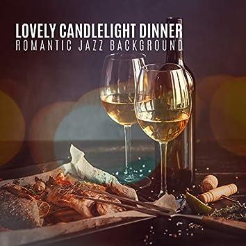 Lovely Candlelight Dinner. Romantic Jazz Background