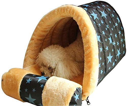 DAGUAI Dog Kennel Indoor Cat Litter Dog House Kennel Small Dog Winter Warm Pet Nest, Removable Dog Pad