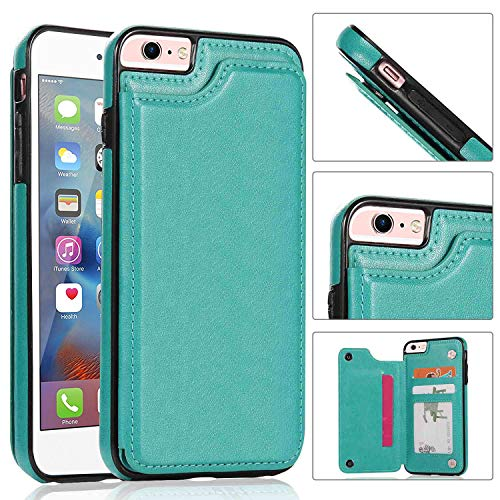 iPhone 6s,6 Wallet Case,iPhone 6 Case with Card Holder,Aprilday iPhone 6 Slim Fit Premium Leather [Kickstand Feature] Case Card Slots Shockproof Folio Flip Case with ID&Credit Card Pockets (Green)