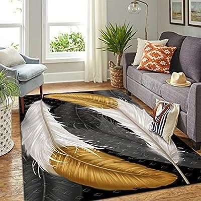 1. 【Material suave y cálido】: Las alfombras de terciopelo tienen una textura elegante y son suaves al tacto. Esta suave alfombra brinda una cómoda experiencia hogareña para que su familia descanse el cuerpo y la mente después de un día ajetreado. ¡Es...