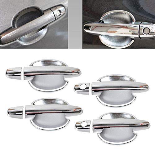 Cubiertas para manija de puerta de coche, cromadas, para Toyota Corolla 2003-2013 RAV4 Camry Highlander Matrix RAV4 Yaris (12 piezas de 2 llaves)