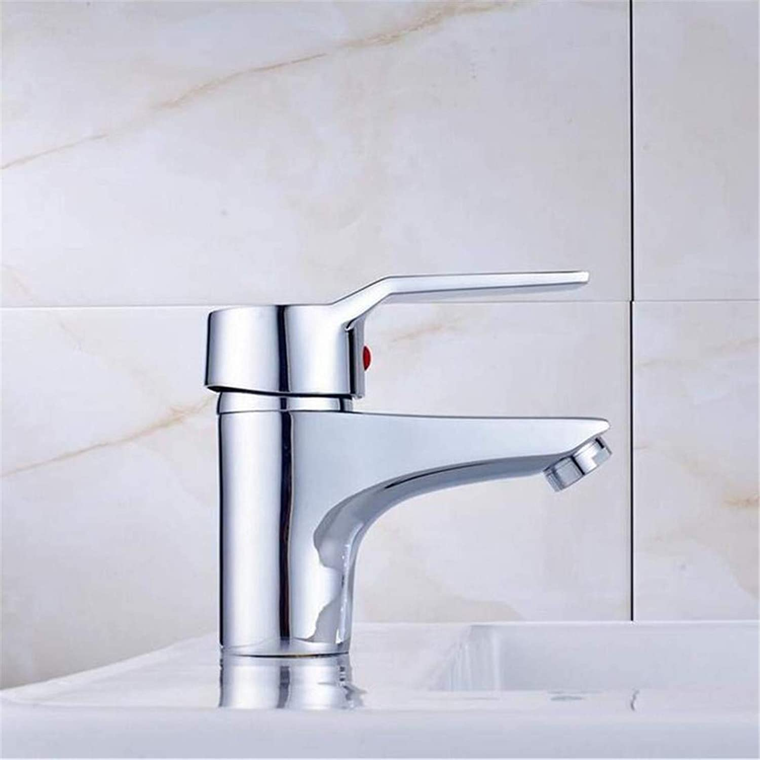 Faucet Modern Plated Kitchen Bathroom Faucet Faucets Basin Mixer Faucet Single Handle with Hot and Cold Water Bathroom Mixer Taps