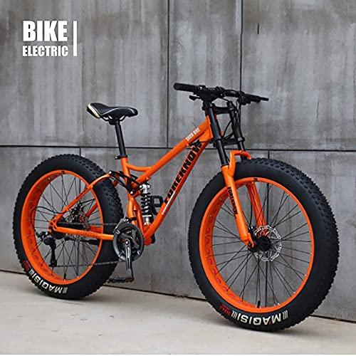 Bicicleta MTB, bicicleta de montaña de neumático gordo, crucero de playa bicicleta de neumático de grasa bicicleta de nieve gordo grande neumático bicicleta 21 velocidad bicicleta gorda para adulto