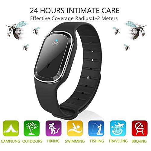 TaiRi Ultraschall-Mückenschutz-Armbänder, wasserdichtes Anti-Mücken-Band Elektrisches Camping Double Effect Insect Flohschutzmittel-Uhr