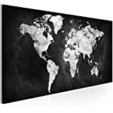 murando Quadro Mappamondo 120x40 cm Stampa su Tela in TNT XXL Immagini Moderni Murale Fotografia Grafica Decorazione da Parete Mappa Mondo - k-A-0297-b-a