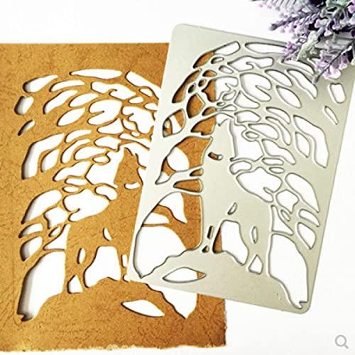 Molde de corte de Metal con cubierta de lobo, molde de cuchillo Diy, álbum de recortes, álbum de fotos, tarjeta de papel, decoración, manualidades en relieve