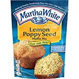 Contains 1, 7.6oz box of Martha White Lemon Poppy Seed Muffin Mix Just add milk, stir, pour and bake Good source of calcium and 6 vitamins + iron Fresh, hot homemade muffins in 15 minutes These muffins have a refreshing zing, making it perfect for a ...