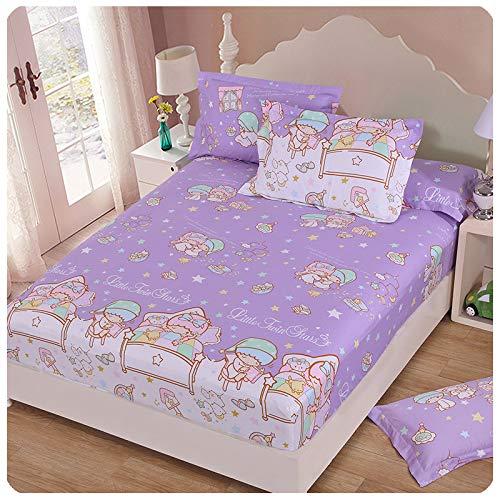HAIBA Sábanas de lujo 150 x 200 cm 30 cm de profundidad de algodón sábana bajera color sólido 4 esquinas con banda elástica cubierta de colchón