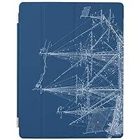 RECASO ipad mini4 ケース ipadMini4 カバー iPad mini4 ケース カバー スタンドケース オートスリープ機能付き アイパッドミニ 衝撃吸収 青く高い帆船 青写真カバー
