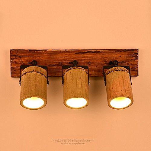 Pumpink Amerikanischen Stil Kreative Bambus Downlights Scheinwerfer Retro Bambus Rohr Wandleuchte Japanischen Nostalgischen Persönlichkeit Spotlight Wandleuchte Cafe Balkon Dekoriert Wandleuchte Für B