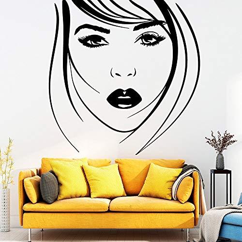 Belleza Mujer WallStickers Moda moderna Etiqueta de la pared para habitaciones de niños Decoración de la casa Decoración extraíble Tatuajes de pared Muursticker 57 * 58 cm