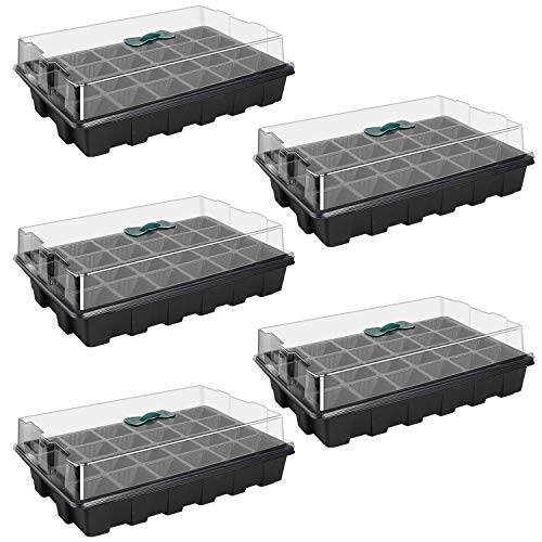 5 Pack 120-cell Seed Starter Tray kit
