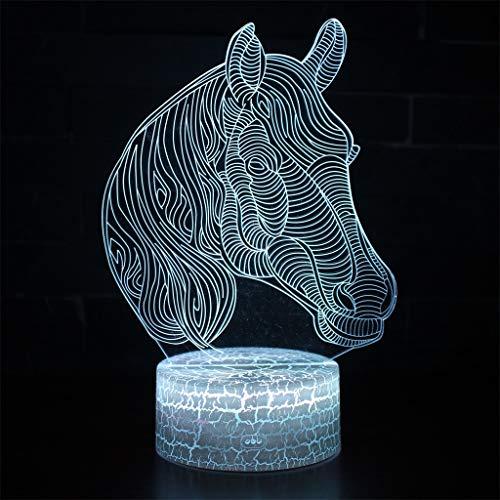 3D Night Light/LED d'économie d'énergie lampe, 7 couleurs, Table de chevet Veilleuse Eclairage Pour Enfants Lampe, Sculpture