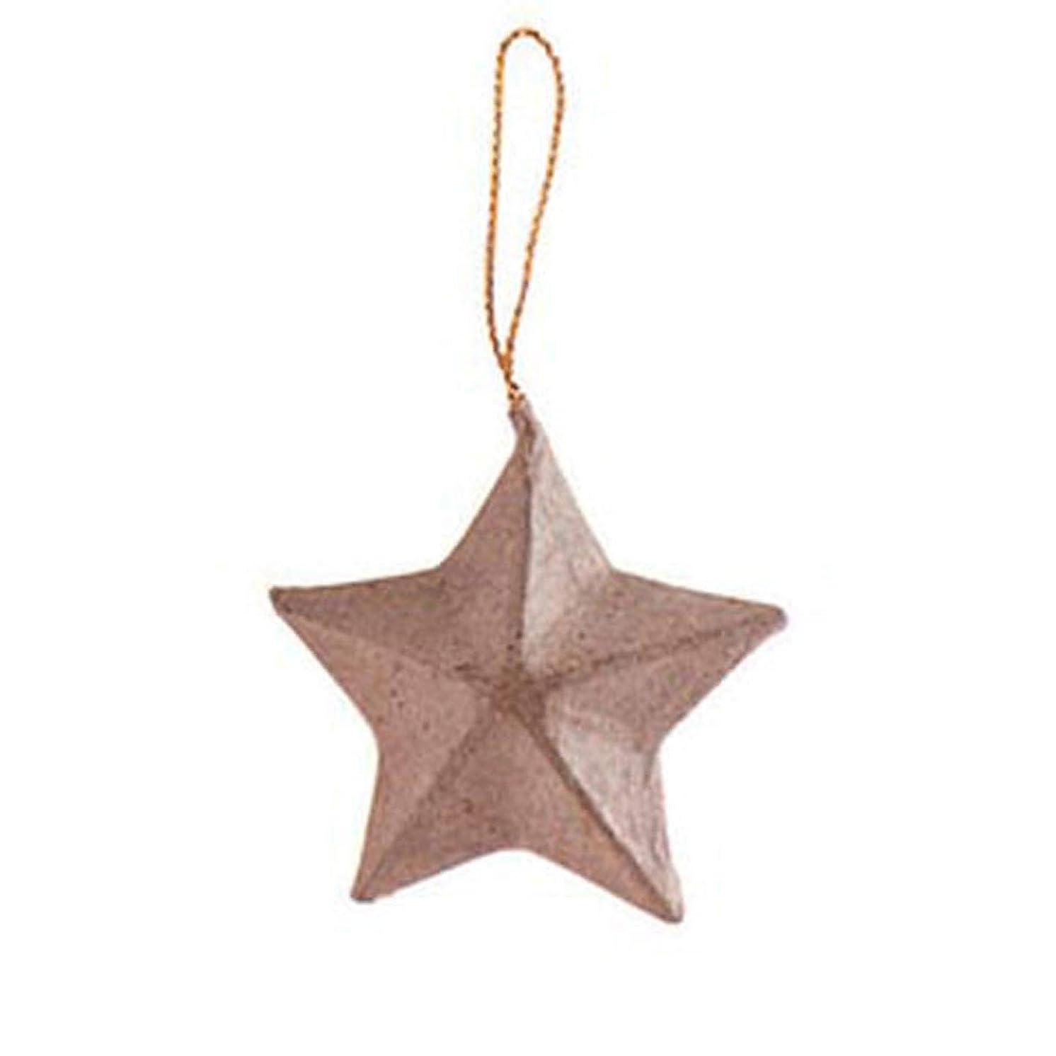 Bulk Buy: Darice DIY Crafts Paper Mache Ornament Star 2 inches (12-Pack) 2833-60