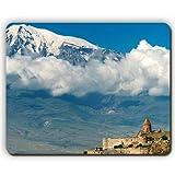 高品質マウスパッド、マウンテンアララトアルメニア高さ建築構造雲、ゲームオフィスマウスパッド