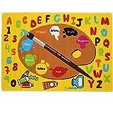 Mybecca Kids Rug Kids ABC Little Artist Area Rug Educational Alphabet Letter & Numbers 5' X 7' Childrens Area Rug - Non Skid Gel Backing (59' x 82')