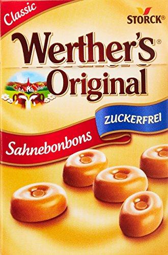 Werther's Original Sahnebonbon Minis zuckerfrei – (10 x 42g Packung) – Mini Bonbons ohne Zucker mit lang anhaltendemgenuss für besondere Momente