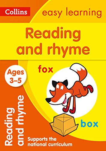 Reading and Rhyme Ages 3-5: Prepare for Preschool with easy home learning (Collins Easy Learning Preschool)