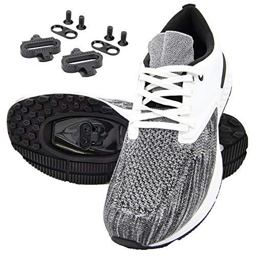 Tommaso Capri Women's Cycling Shoe SPD Bundle - White/Grey - 8.5