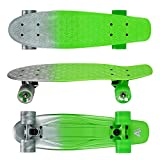 Arcade Mini Cruiser Skateboard Complete - 22.5 Inch Micro Board - Vintage Skate Board for Beginners, Teens, Kids, Boys &...