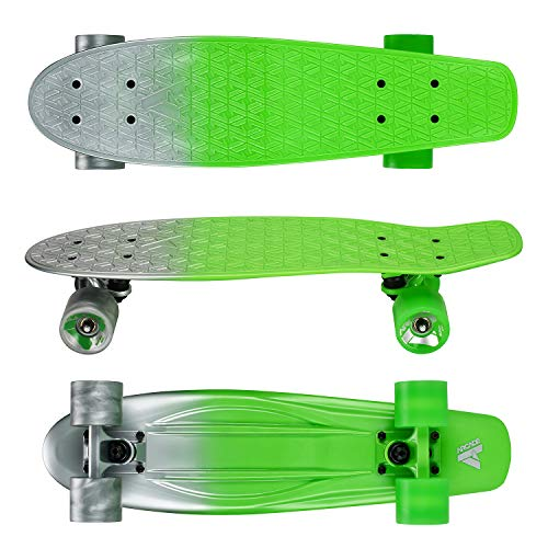 Arcade Mini Cruiser Skateboard Complete - 22.5 Inch Micro Board - Vintage Skate Board for Beginners, Teens, Kids, Boys & Girls (22.5' Atomic Surfer)