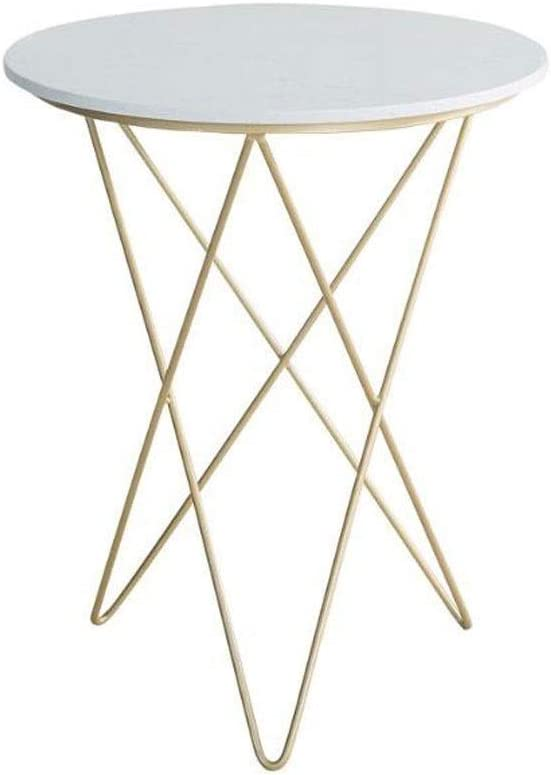 Lowest price challenge BYZHP End Max 80% OFF Table Round Marble Coffee Legs Side T Metal with