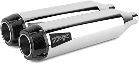 Two Brothers Racing 005-4360499D Chrome Deluxe/Slim Dual Shorty Slip Ons (Soft Ail 2004-17)