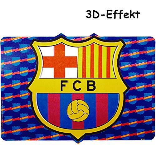 alles-meine.de GmbH 2 Stück _ 3D Effekt _ Unterlagen - Fußball - FC Barcelona - FCB - als Tischunterlagen / Platzdeckchen / Malunterlagen / Knetunterlagen / Eßunterlagen / Platzs..