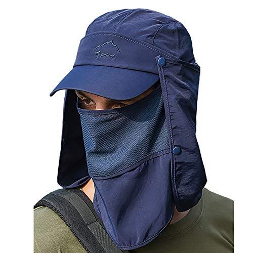 GATTORO UPF 50+ Proteccion Solar Gorra Sombrero de Pesca con Solapa de Cuello Facial Secado rápido Respirable Gorras al Aire Libre para Hombres Mujeres