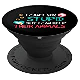Funny Help Animals Veterinarian Vet Tech Technician Gift PopSockets Grip and Stand for Phones and Tablets