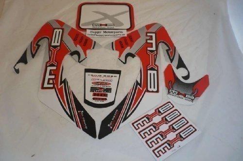 Hmparts Pit Bike / Dirt Bike Top Set de Pegatinas X - Rojo